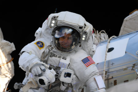 Astronaut Drew Feustel on a Spacewalk