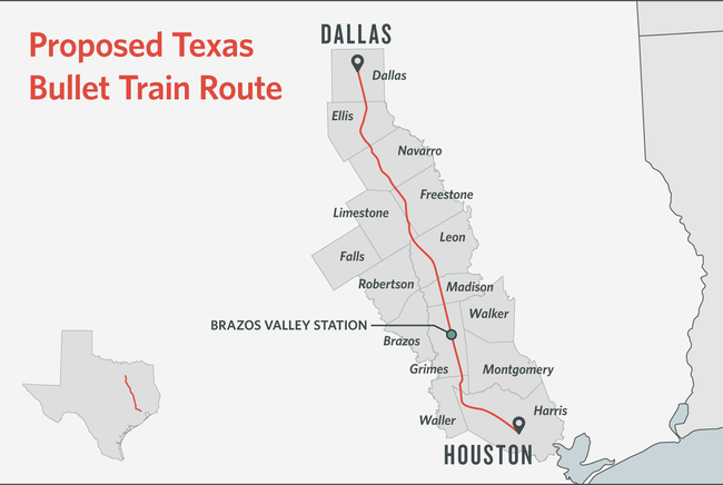 Dallas-Houston Bullet Train Critics Want To Boost Texas