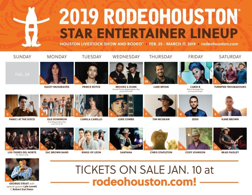 Rodeohouston 2019 Lineup Announced Houston Public Media