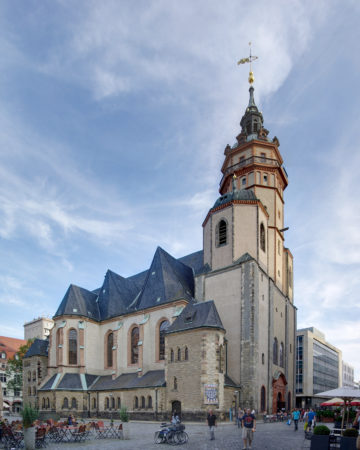 Large church in Leipzig, Germany