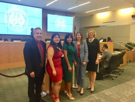 The HISD board of trustees elected new officers for 2019.