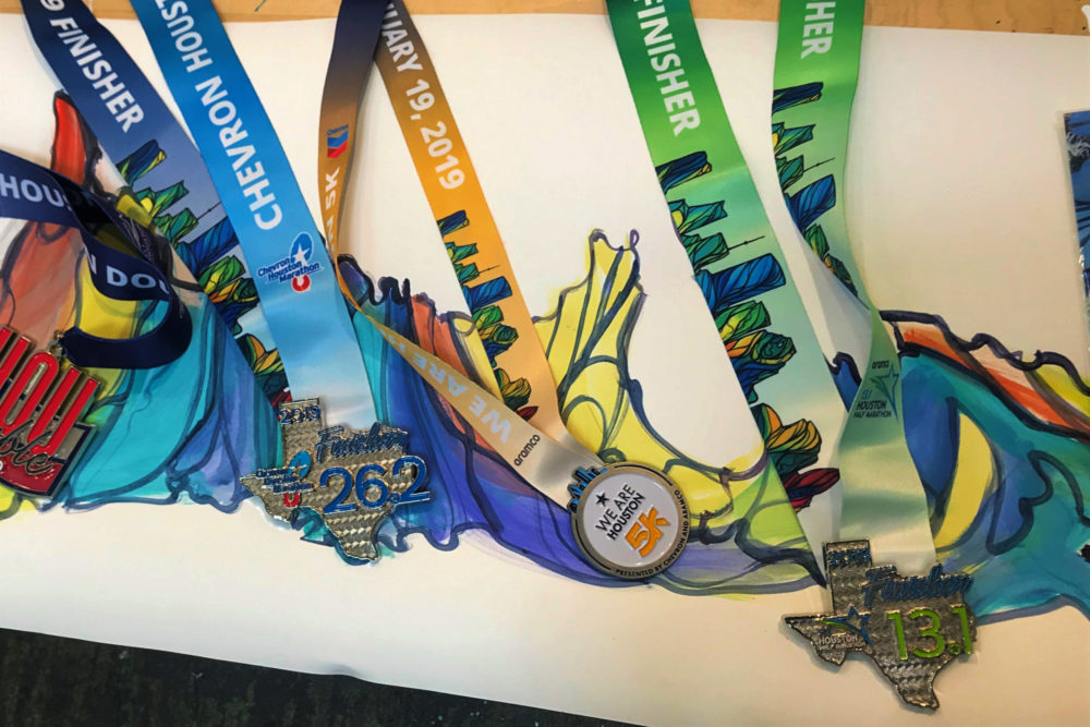 Houston Marathon Medals