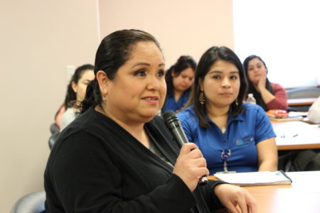 Parent Laura Cervantes said that she wants the next HISD superintendent to be bilingual and have experience as a teacher.