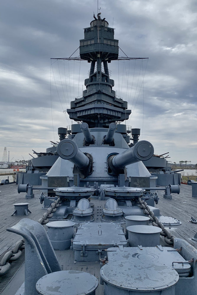 Battleship Texas - Guns on Deck - Vertical