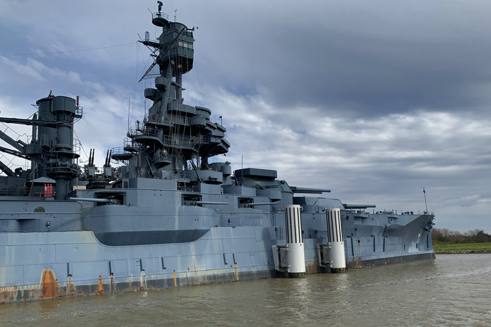 Battleship Texas Docked