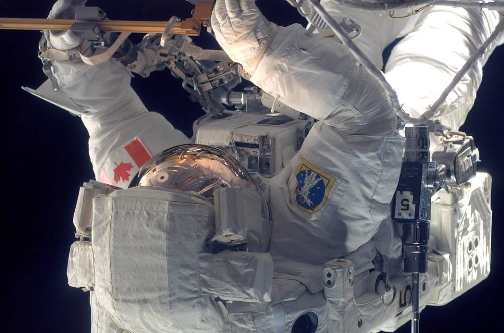 Astronaut Dave Williams on a Spacewalk