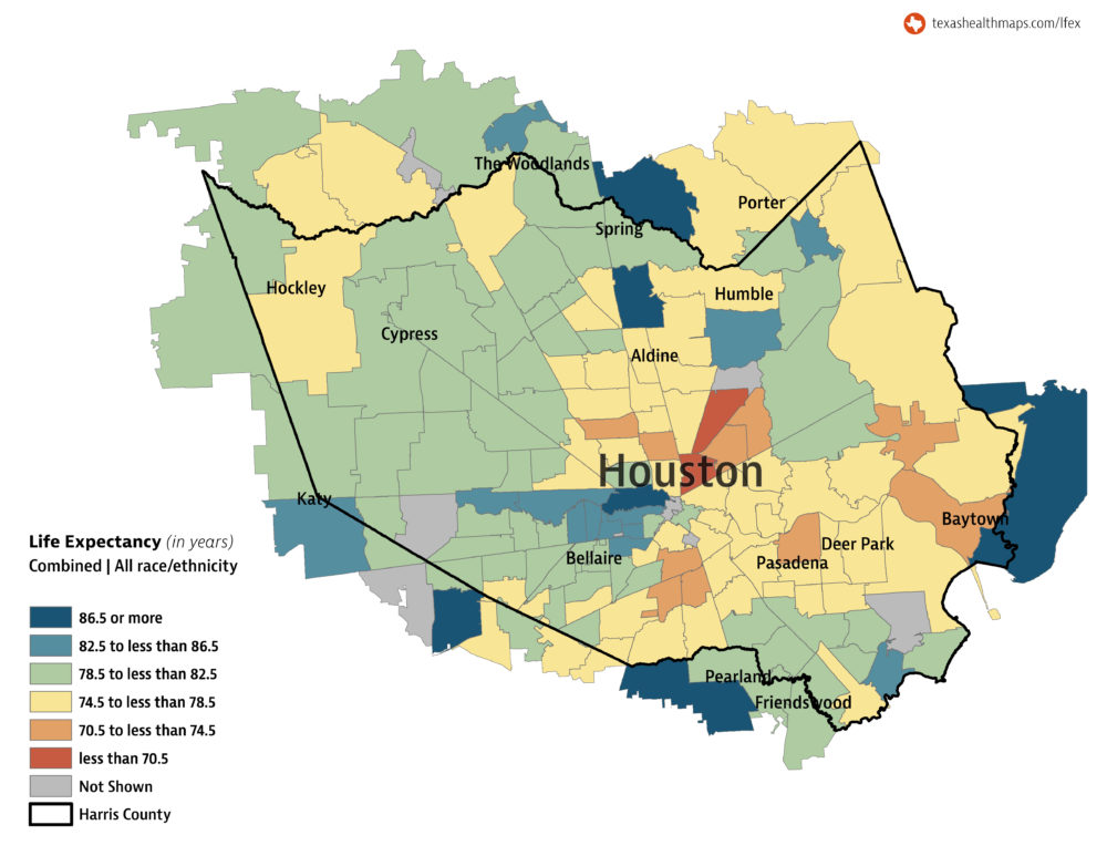 Life Expectancy In Houston Can Vary Up To 20 Years Depending On ...