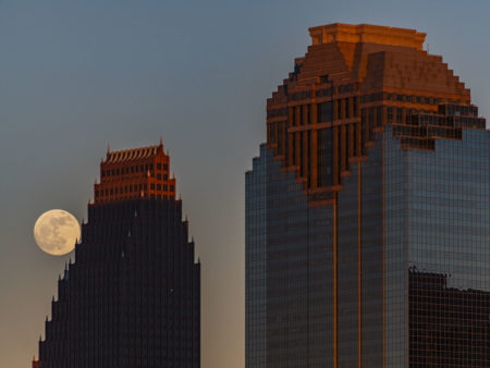 The Moon Over Downtown