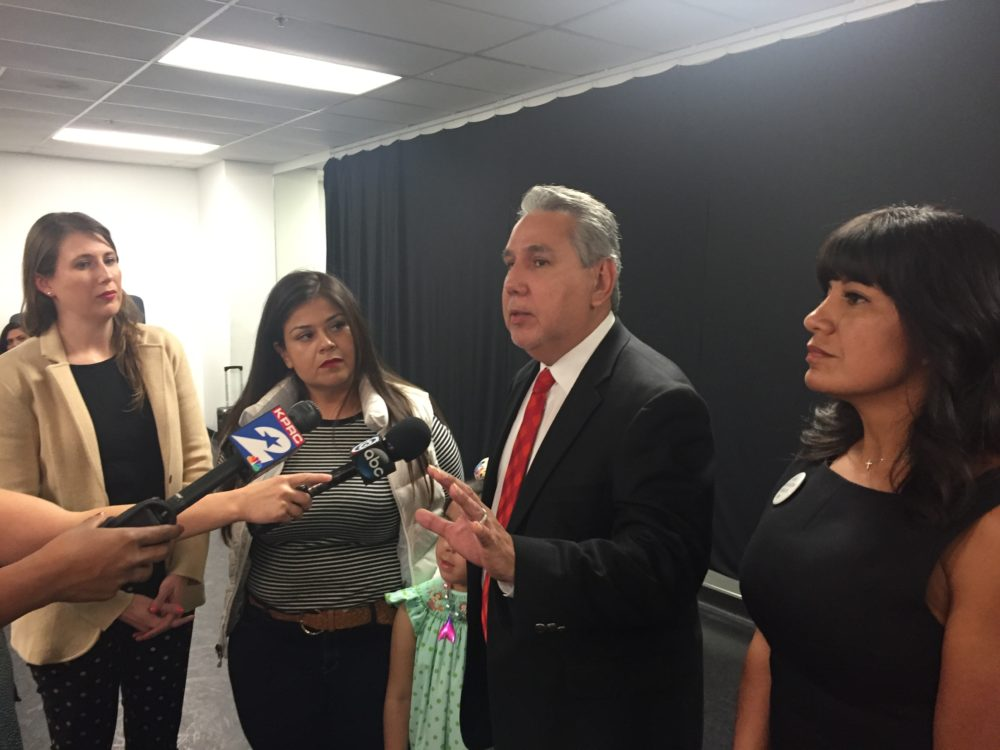 Trustees Holly Maria Flynn Vilaseca, Elizabeth Santos, Sergio Lira and  Diana Dávila told reporters that they are disappointed with the state conservator's decision but will accept it.