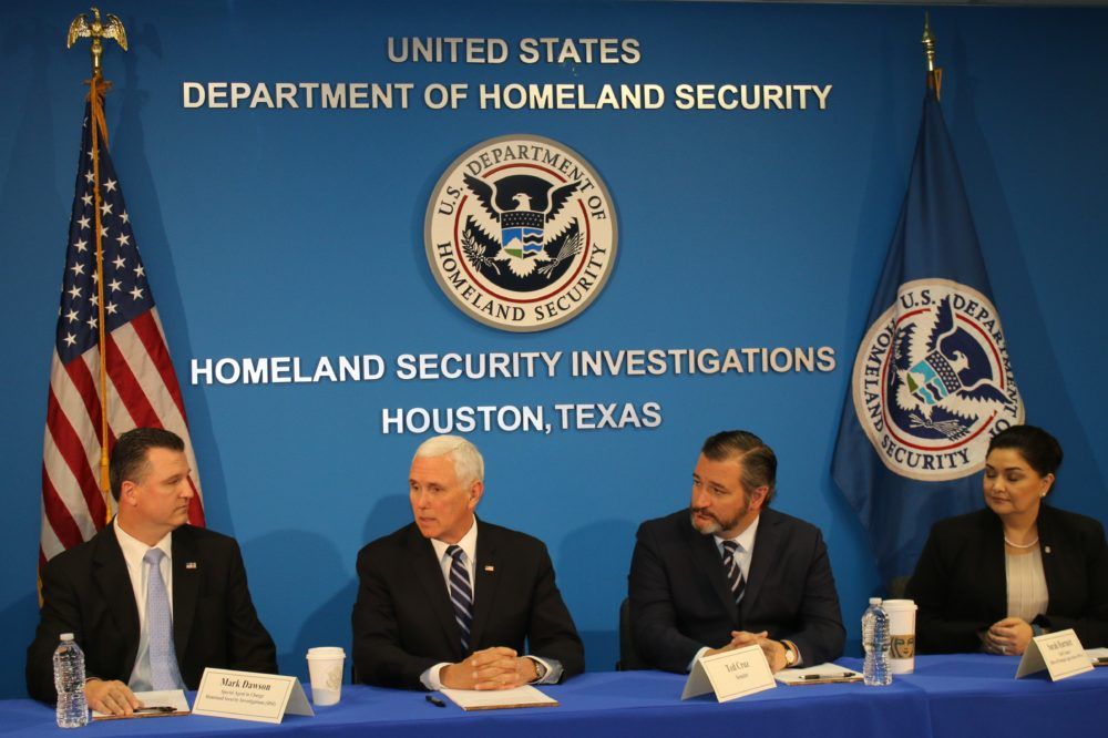Vice President Mike Pence Visits Houston's ICE Office