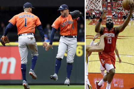 Astros Win 9th in a Row and Rockets Beat the Jazz in Game 1