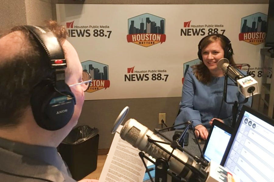 Rep. Lizzie Fletcher in the Houston Matters Studios