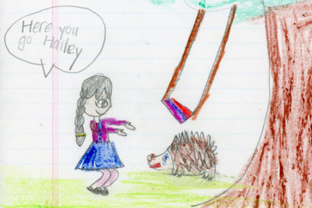 "Bella Wang, kindergarten, ""Hailey the Hedgehog"""