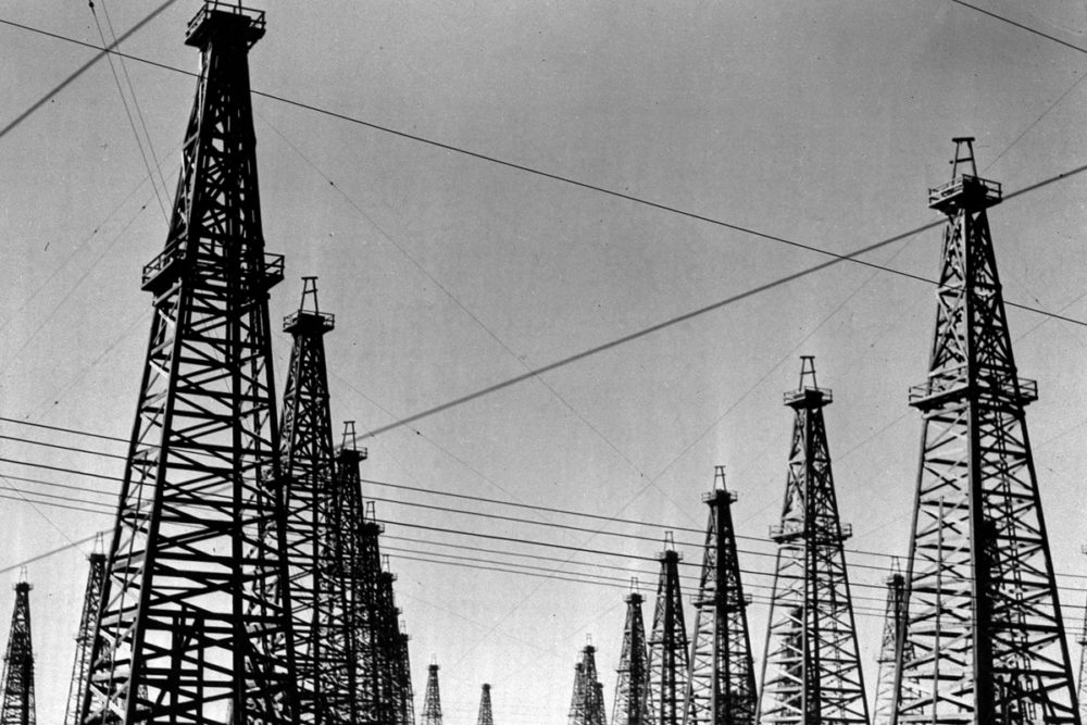 Oil Derricks at Spindletop