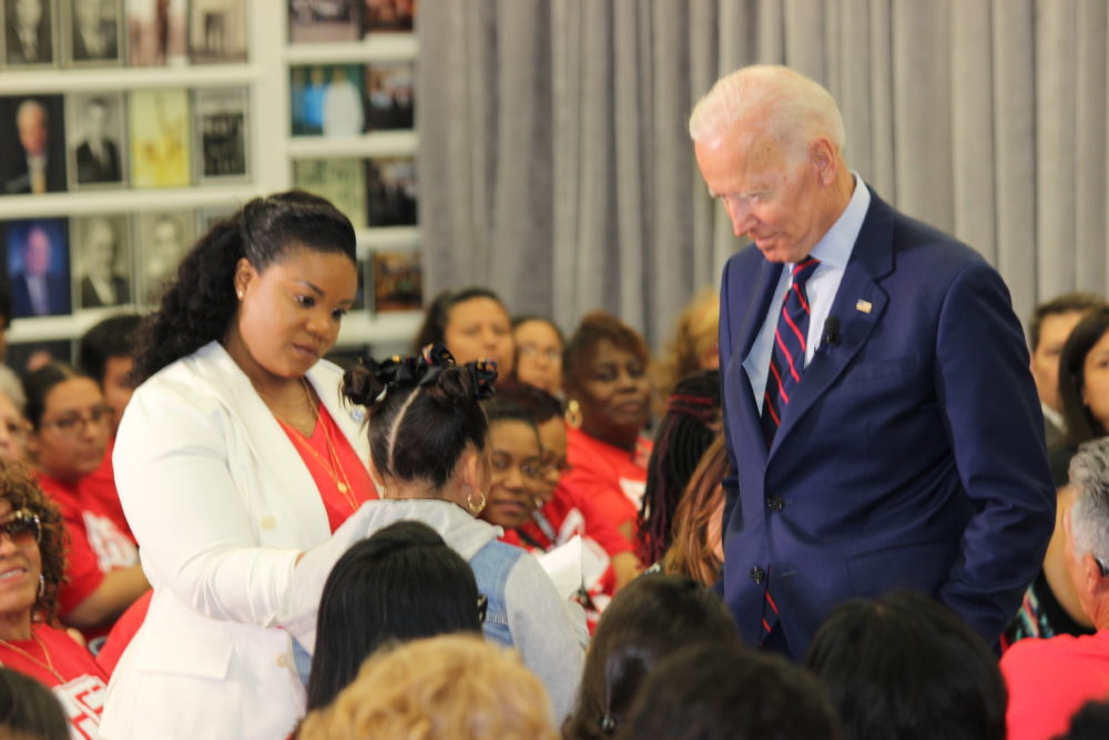 Biden and student