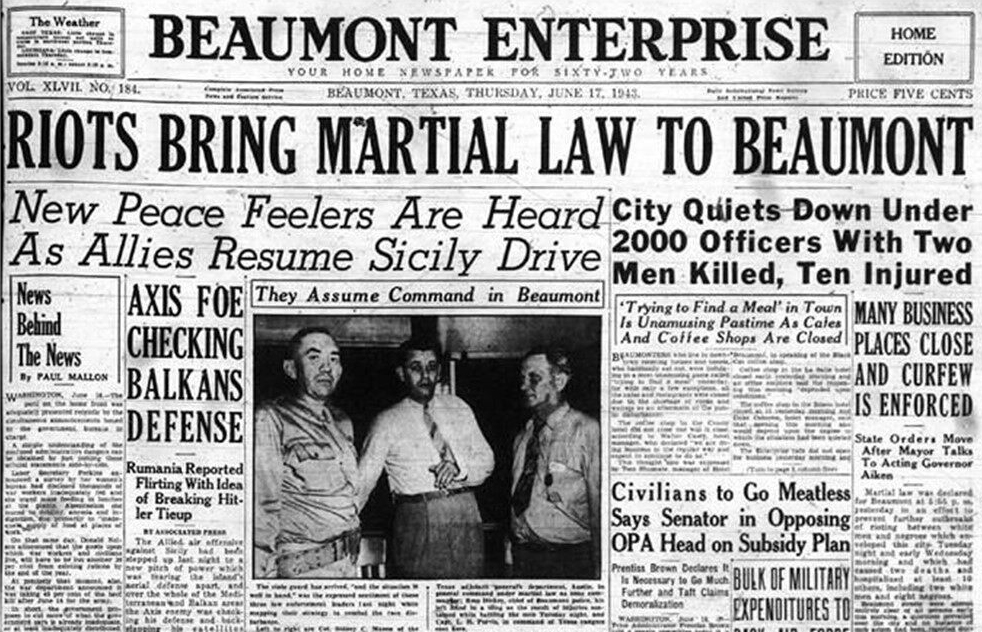 Beaumont Race Riots Newspaper