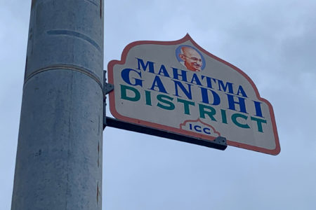 Gandhi District Street Sign