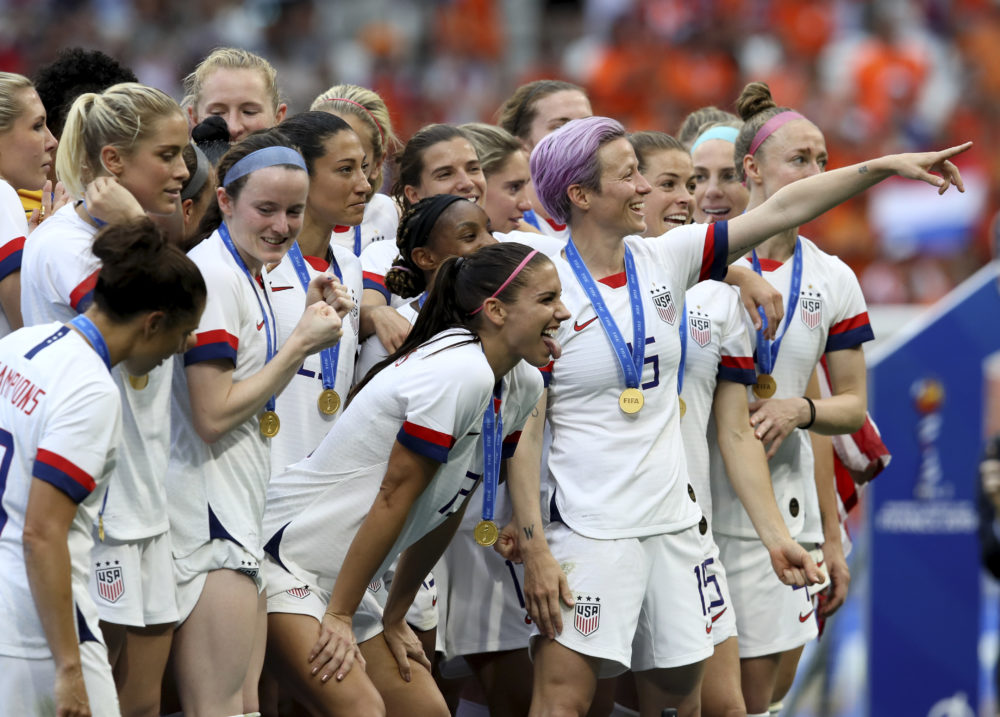 US Women's Soccer World Cup Celebration
