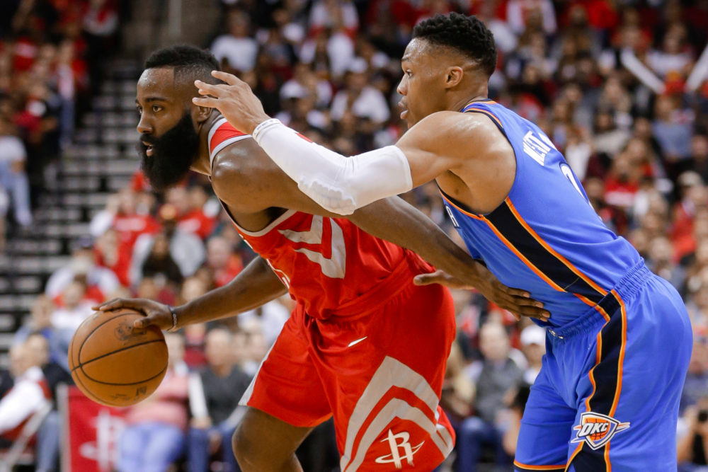 Russell Westbrook and James Harden