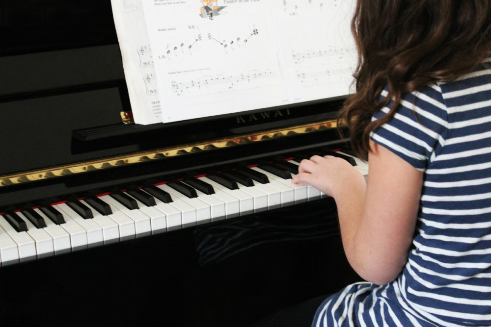 Child Playing Piano