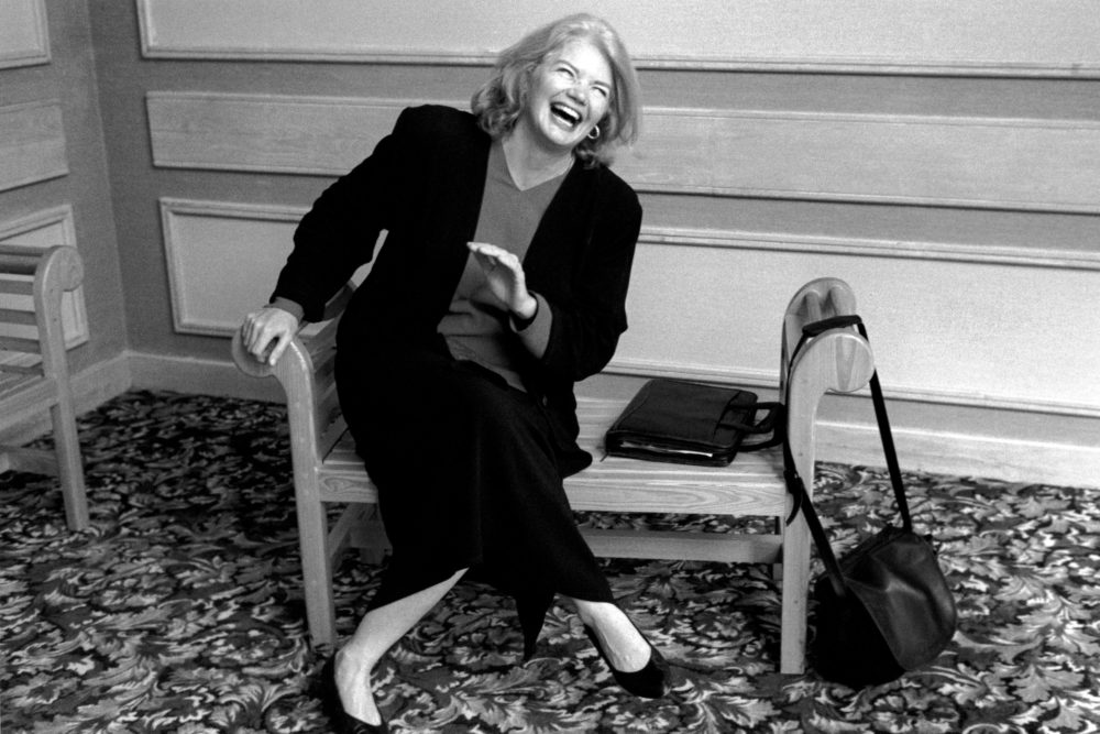 Molly Ivins Laughing