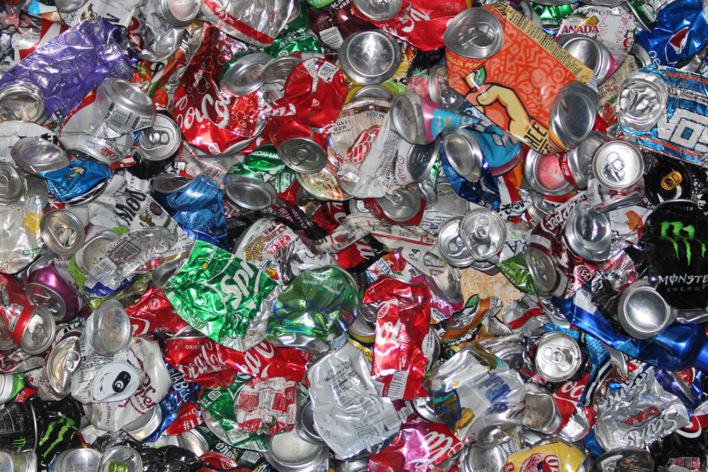 Soda Cans Closeup