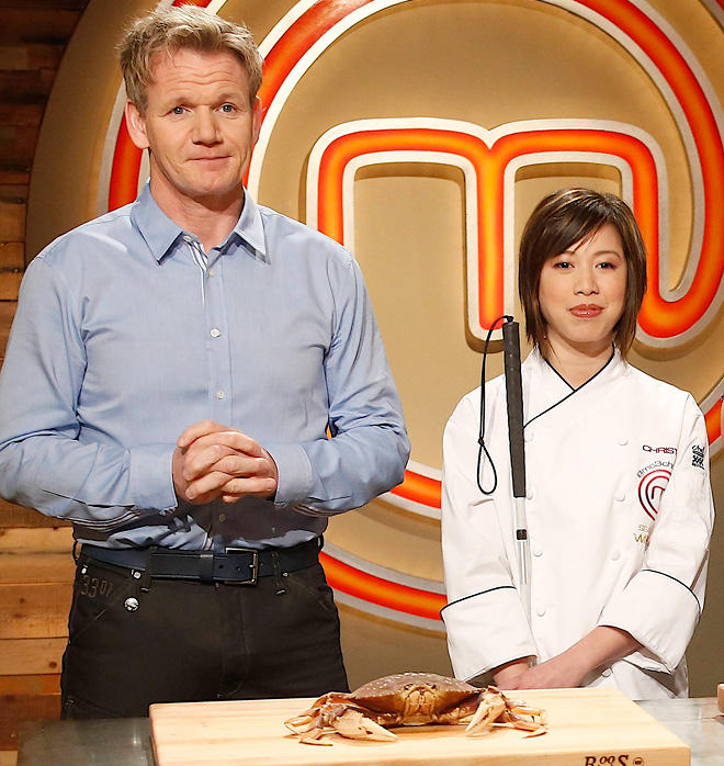 Gordon Ramsay and Christine Ha on Masterchef
