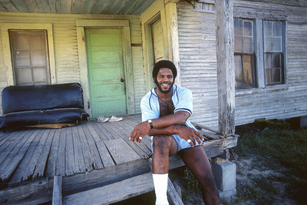 Earl Campbell On His Family Porch