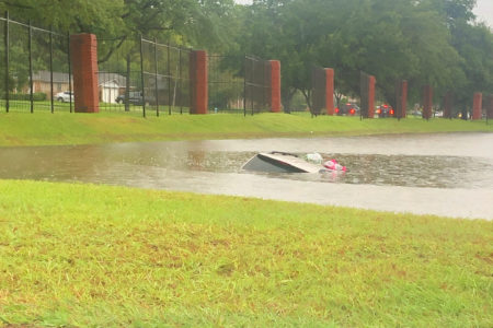 Submerged Car Near Houston Baptist University