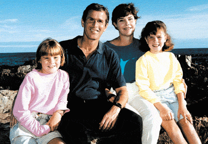 Bush Family with Daughters