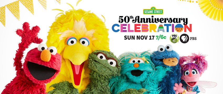 Sesame Street 50th Anniversary Show Banner