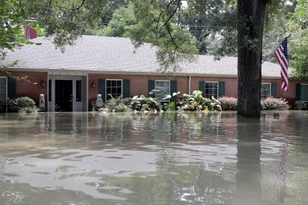 Flooded Home After Harvey