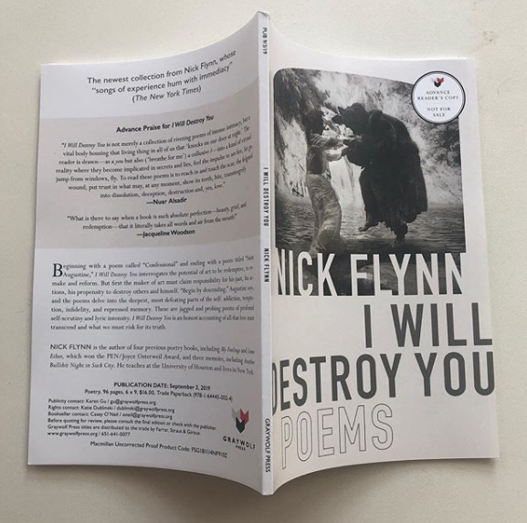 "Nick Flynn's poetry collection ""I Will Destroy You"""