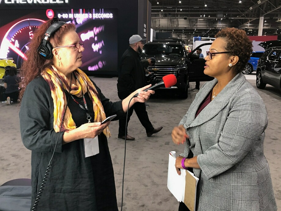 Gail Delaughter at the 2020 Houston Auto Show