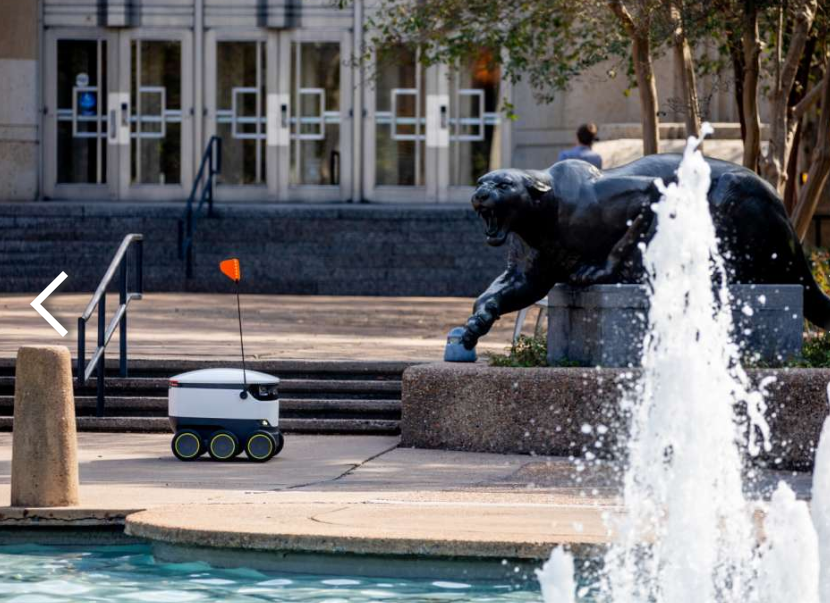 Delivery Robot UH Cougar Statue
