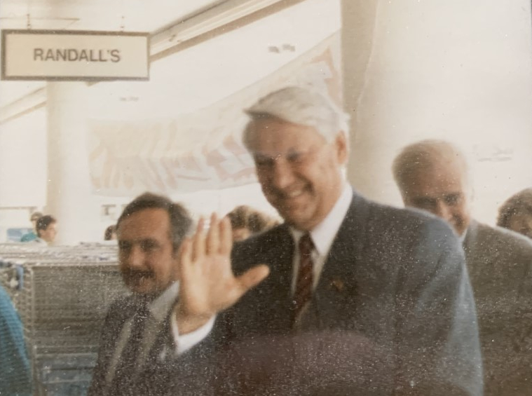 Boris Yeltsin Waving