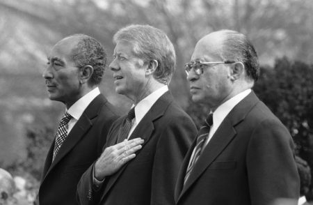 Jimmy Carter, Anwar Sadat, Menachem Begin