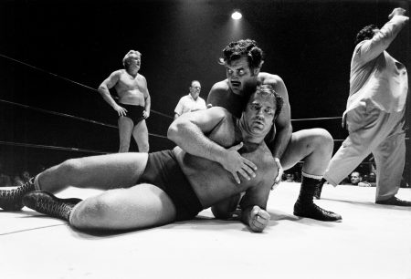 Wrestling in the Houston Coliseum