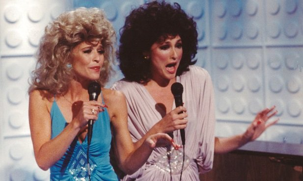 Nora Dunn and Jan Hooks as the Sweeney Sisters on Saturday Night Live.