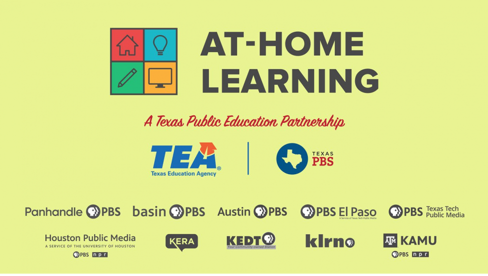 TEA and Texas PBS At Home Learning