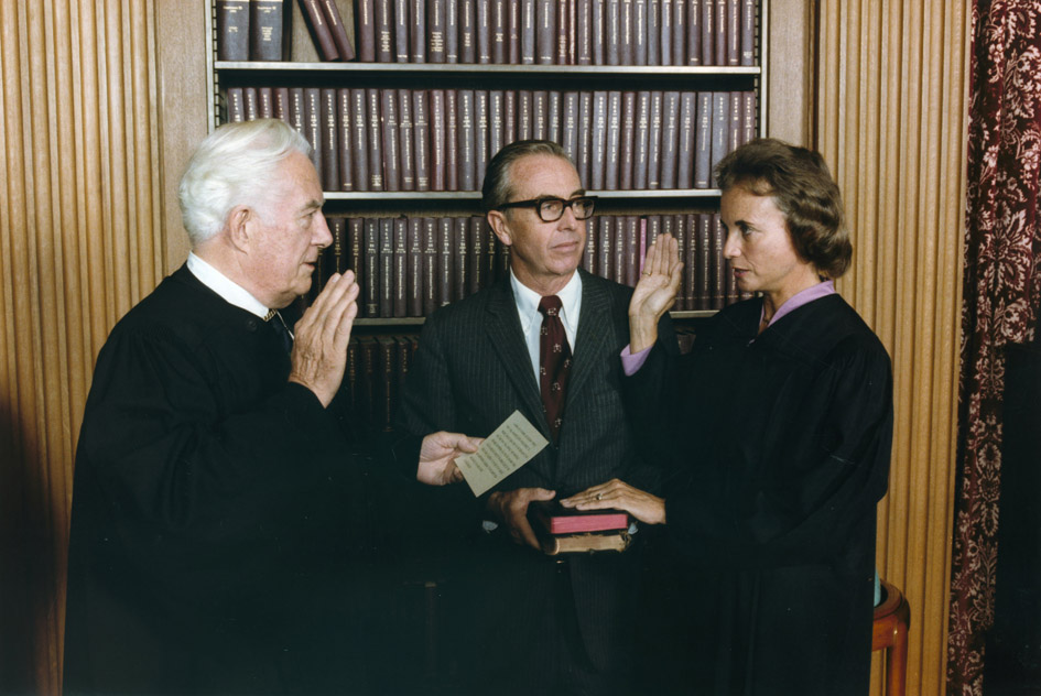 Sandra Day O'Connor Being Sworn In