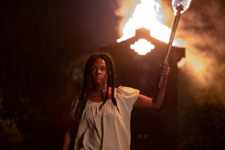 Janelle Monae Antebellum Holding a Torch