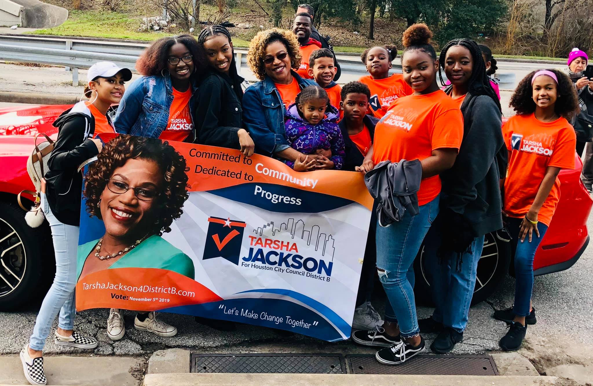 Tarsha Jackson, who is running for Houston City Council District B, is a longtime criminal justice organizer and vocally supported her opponent Cynthia Bailey in her fight to remain on the ballot despite having been convicted of a felony in the past.
