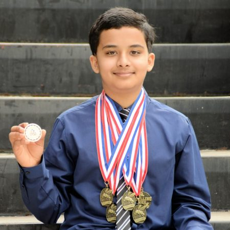 Shawn Ray, Co-Champion, 2021 HPM Spelling Bee